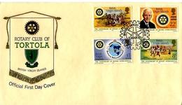 1 FDC Des îles Vierges Britannique De 1980 Rotary Club - Iles Vièrges Britanniques