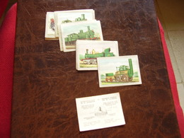 Lot Chromos Images Vignettes Chocolat Jacques *** Rétrospective De La Locomotive *** - Albums & Catalogues