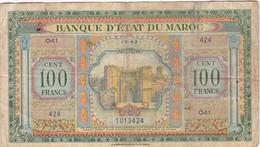 MAROC / PROTECTORAT /  100 FRANCS 01/05/1943 - Marokko