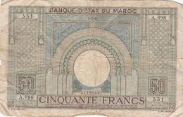 MAROC /  50FRANCS / 01/03/1945 / RARE - Morocco