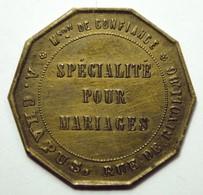 Jeton Publicitaire A La Gerbe D'Or Rue De Rivoli Paris - Monetari / Di Necessità