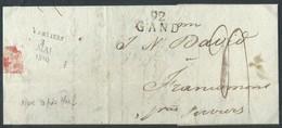 """L 92/GAND + """"4"""" Pour Francomont Avec Arrivée Sur 4 Lignes  """" VERVIERS/3/MAI/I8I0"""" (non Repris Chez Herlant) - 1794-1814 (Periodo Francese)"""