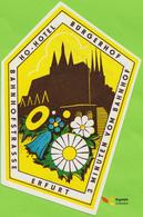 Voyo HOTEL BURGERHOF Erfurt Germany Ex DDR Railway Station Hotel Label 1970s Vintage - Etiquetas De Hotel