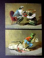 2 CHROMOS.... .....GRENOUILLES...ASSASSINAT..VOL....RÉCOMPENSE ...COURONNE DE LAURIER - Cromos
