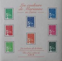 R1615/1489 - 2002 - LES COULEURS DE MARIANNE EN EUROS  - BLOC N°45 NEUF** - Blocs & Feuillets