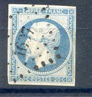 France N°14 OBL - PC 1607 (Lacalm) - (F582) - 1853-1860 Napoleon III