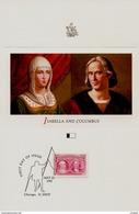 2 Cartes Souvenir De Grandes Dimensions De 1992 Christophe Colomb Columbus Colon Colombo Discovéry América - Souvenirs & Special Cards