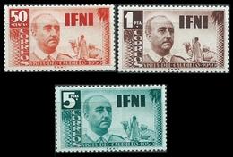 IFNI 1951 - VISITA DEL GENERAL FRANCO - EDIFIL Nº 73-75* - Ifni