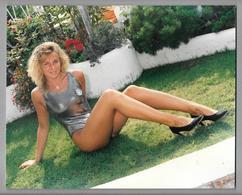 PHOTO  -  FEMME - GIRL - WOMAN - MISS -  LINGERIE PHOTO CM. 20,5X25 - Pin-ups