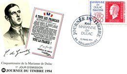 France - FDC 1994-y 2863-journée Du Timbre à Heillecourt-sur  Env. - 1990-1999