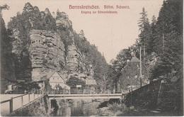 AK Herrnskretschen Hrensko Böhmische Schweiz Eingang Edmundsklamm Mühle Klamm A Stimmersdorf Rainwiese Jonsdorf Tetschen - Sudeten