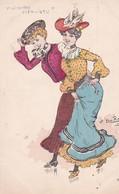 Illust . Ch. NAILLOD . ( 2 Jeunes Femmes En Tenue 1900 ) Midinettes Enfin Libres !! - Naillod