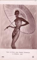 SALON De PARIS - BEAU NU FEMININ - Le Parasol Vert Par Gabriel Domergue - AN N° 6466 - Peintures & Tableaux