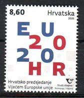 Croatia 2020 Y CROATIAN PRESIDENCY OF THE COUNCIL OF THE EUROPEAN UNION MNH - Kroatië