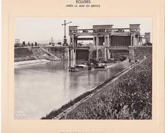 Haut-rhin : KEMBS : Construction Du Barrage Et écluse : écluses - Aprés Mise En Service - Convoi De Péniches : 1928-32 - Barche