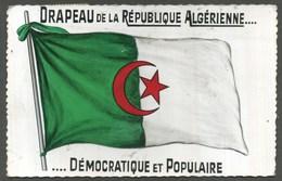 DRAPEAU DE LA REPUBLIQUE ALGERIENNE...DEMOCRATIQUE ET POPULAIRE - VG 1969 - Algeria