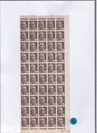 Un Bloc De 50 Timbres  Bord De Feuille Coins Datés 1945 :  3 F Type Marianne De Gandon N° 715   Gomme Sans Charnière - 1940-1949