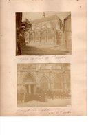 Pont De L'Arche 4 Photos De L'Eglise Notre Dame (1899). Ces Photos Sont Collées Sur 2 Pages D'album - Photos