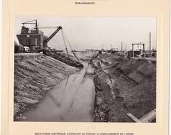 Haut-rhin : KEMBS : Construction Du Barrage Et écluse : Usine Et Canal De Fuite - Excavateur éléctrique - 1928-32 - Lieux