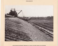 Haut-rhin : KEMBS : Construction Du Barrage Et écluse : Usine Et Canal De Fuite - Excavateur éléctrique Creusant 1928-32 - Lieux
