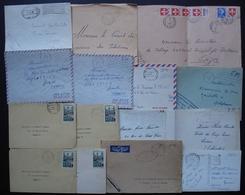 Poste Aux Armées A.F.N, Lot De 15 Lettres Et Cartes Des Années 1950, Voir Photo - Cachets Militaires A Partir De 1900 (hors Guerres)