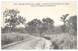 Cpa Afrique - Soudan - Chemin De Fer De Kayes Au Niger Près De La Station De Sébékoro - Sudan