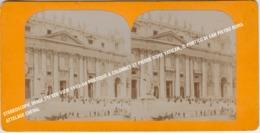 STEREOSCOPIC IMAGE STEREO VIEW 1904 PORTIQUE A COLONNES ST PIERRE ROME VATICAN, ATTELAGE / IL PORTICO DI SAN PIETRO ROMA - Stereoscopio