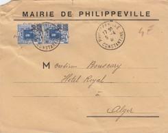 LETTRE. 1941. MAIRIE DE PHILIPPEVILLE         / 2 - Algérie (1924-1962)