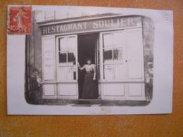 Rare Cpa Photo Veritable Unique Restaurant Commerce Soulier 43000 Le Puy En Velay Belle Devanture Ancienne - Le Puy En Velay