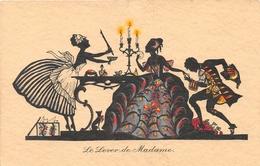 Illustrateur Non Signé - Le Lever De Madame - Silhouette - Fantaisie - Illustratori & Fotografie