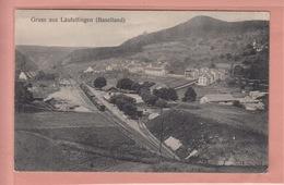 OUDE  POSTKAART ZWITSERLAND - SCHWEIZ - SUISSE -  LAUFELFINGEN - BAHNHOF - BL Basel-Land