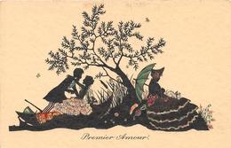 Illustrateur Non Signé - Le Lever De MadamePremier Amour - Silhouette - Fantaisie - Illustrators & Photographers