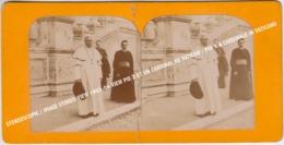 STEREOSCOPIC / IMAGE STEREO VIEW 1903-04 VIEW PIE X ET UN CARDINAL AU VATICAN / PIO X & CARDINALE IN VATICANO - Stereo-Photographie
