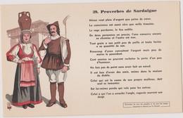 BUVARD EPAIS PEU COURANT PROVERBES DE SARDAIGNE 39 - Blotters