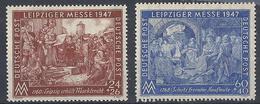 Emissione Comune, 1947 Fiera Di Lipsia, 2v # Michel 941-42 - Scott B296-97 - Unificato 28-29 MNH - Zona AAS