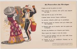 BUVARD EPAIS PEU COURANT PROVERBES DU MEXIQUE 40 - Blotters