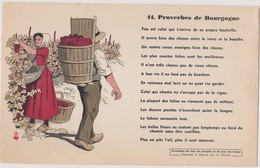 BUVARD EPAIS PEU COURANT PROVERBES DE BOURGOGNE 44 - Blotters