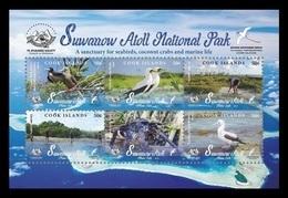 Cook Islands 2019 Mih. 2222/27 (Bl.270) Suwarrow Atoll National Park. Fauna. Birds MNH ** - Cook