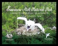 Cook Islands 2019 Mih. 2228 (Bl.271) Suwarrow Atoll National Park. Fauna. Birds MNH ** - Cook