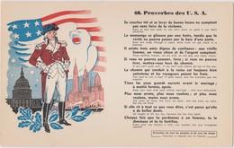 BUVARD EPAIS PEU COURANT PROVERBES DES USA 60 - Blotters