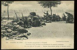 Termonde Les Derniers Engagements Tirailleurs Belges Arrêtant Un Détachement De Cavalerie Prussienne Très Animée Guerre - Belgio