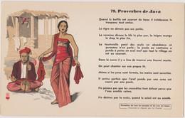 BUVARD EPAIS PEU COURANT PROVERBES DE JAVA 79 - Blotters
