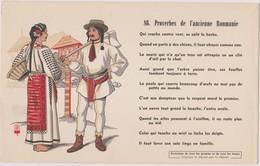 BUVARD EPAIS PEU COURANT PROVERBES DE L'ANCIENNE ROUMANIE 86 - Blotters