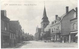 27 - SERQUIGNY - PLACE DU VIEUX PONT - CIRCULé - - Serquigny