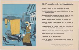BUVARD EPAIS PEU COURANT PROVERBES DE LA LOMBARDIE 90 - Blotters
