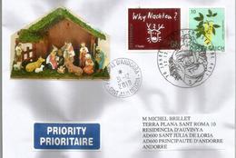 AUTRICHE. Bureau De Poste Noël.Christkindl Post Office.Postamt Christkindl Oberösterreich Letter 2019,sent To Andorra - Natale
