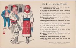 BUVARD EPAIS PEU COURANT PROVERBES DE CROATIE 97 - Blotters