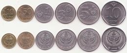 Kyrgyzstan - Set 6 Coins 10 50 Tyiyn 1 3 5 10 Som 2008 - 2009 UNC Lemberg-Zp - Kyrgyzstan