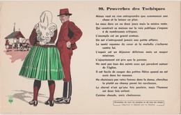 BUVARD EPAIS PEU COURANT PROVERBES DES TSCHEQUES 99 - Blotters