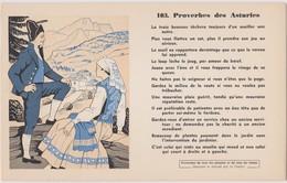 BUVARD EPAIS PEU COURANT PROVERBES DES ASTURIES 103 - Blotters